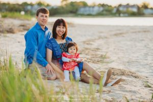 St. Mary's Church Garden and Millway Beach Family Photo Session on Cape Cod in Barnstable, Massachusetts - Sarah Murray Photography