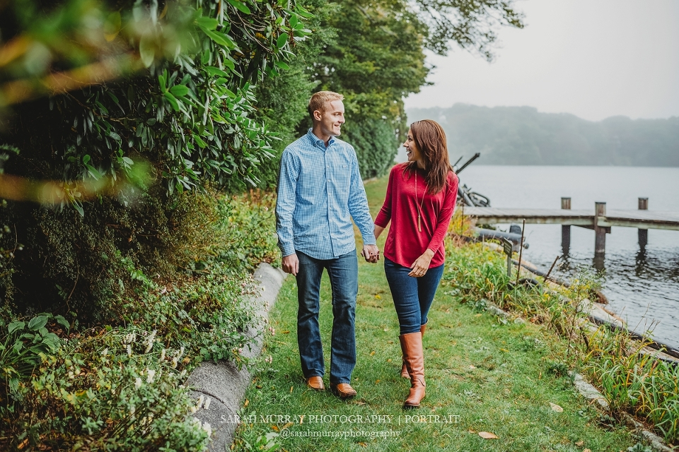 Sphor Gardens Engagement Photo Session on Cape Cod in Falmouth Massachusetts Sarah Murray Photography