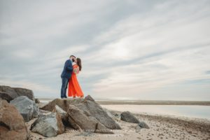 Crosby Landing Beach Engagement Session on Cape Cod in Brewster Massachusetts Sarah Murray Photography