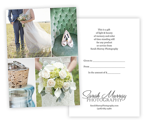 Sarah Murray Photography Wedding Portrait Session Gift Certificate